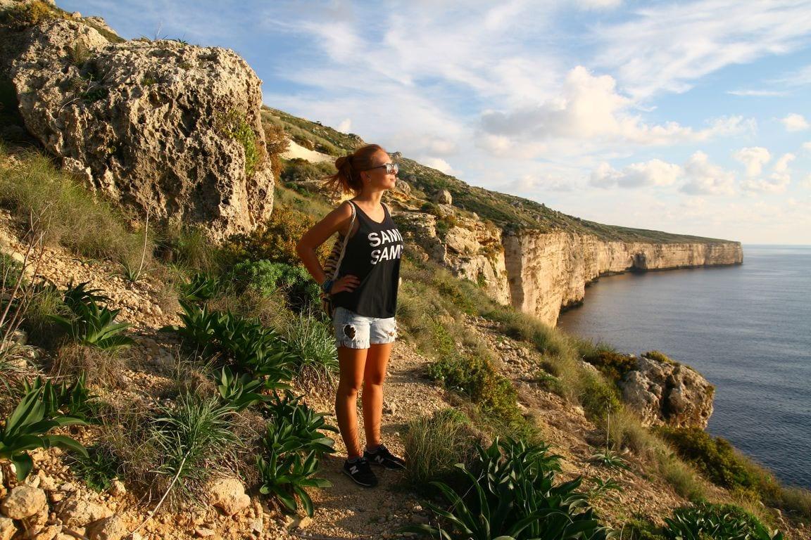 piękne klify na Południu Malty
