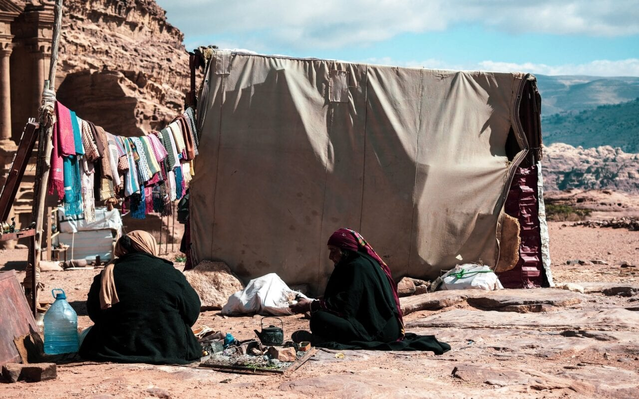 Beduini w Petrze