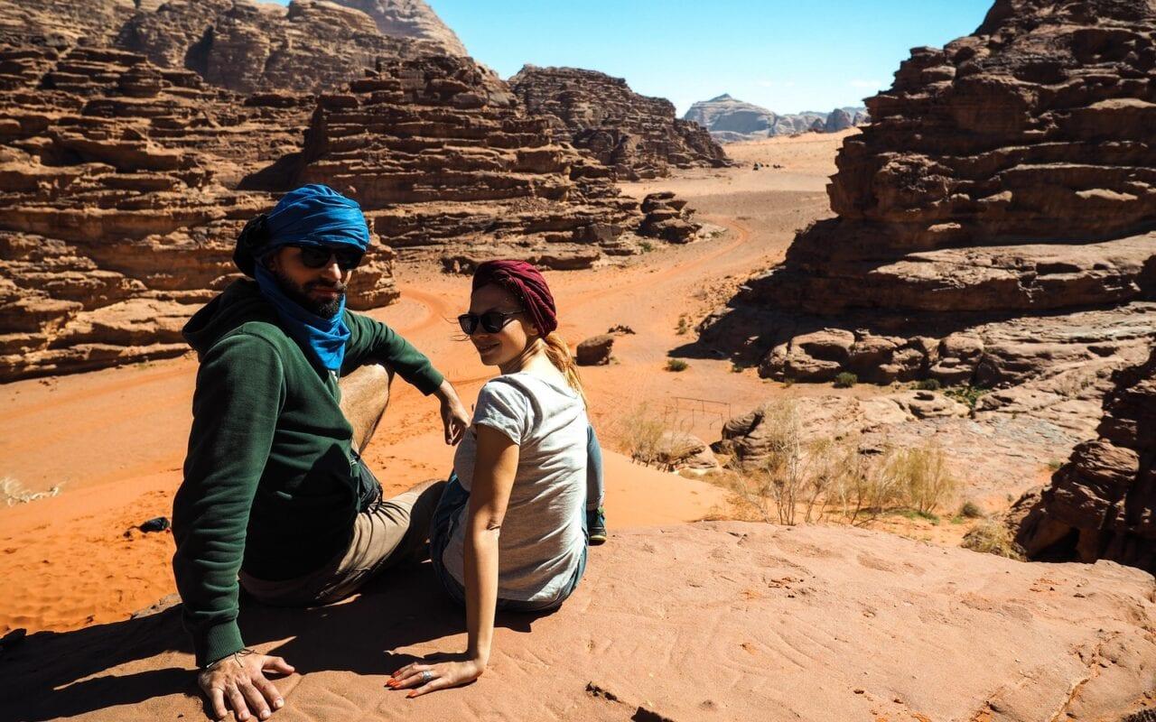 na wydmie Wadi Rum