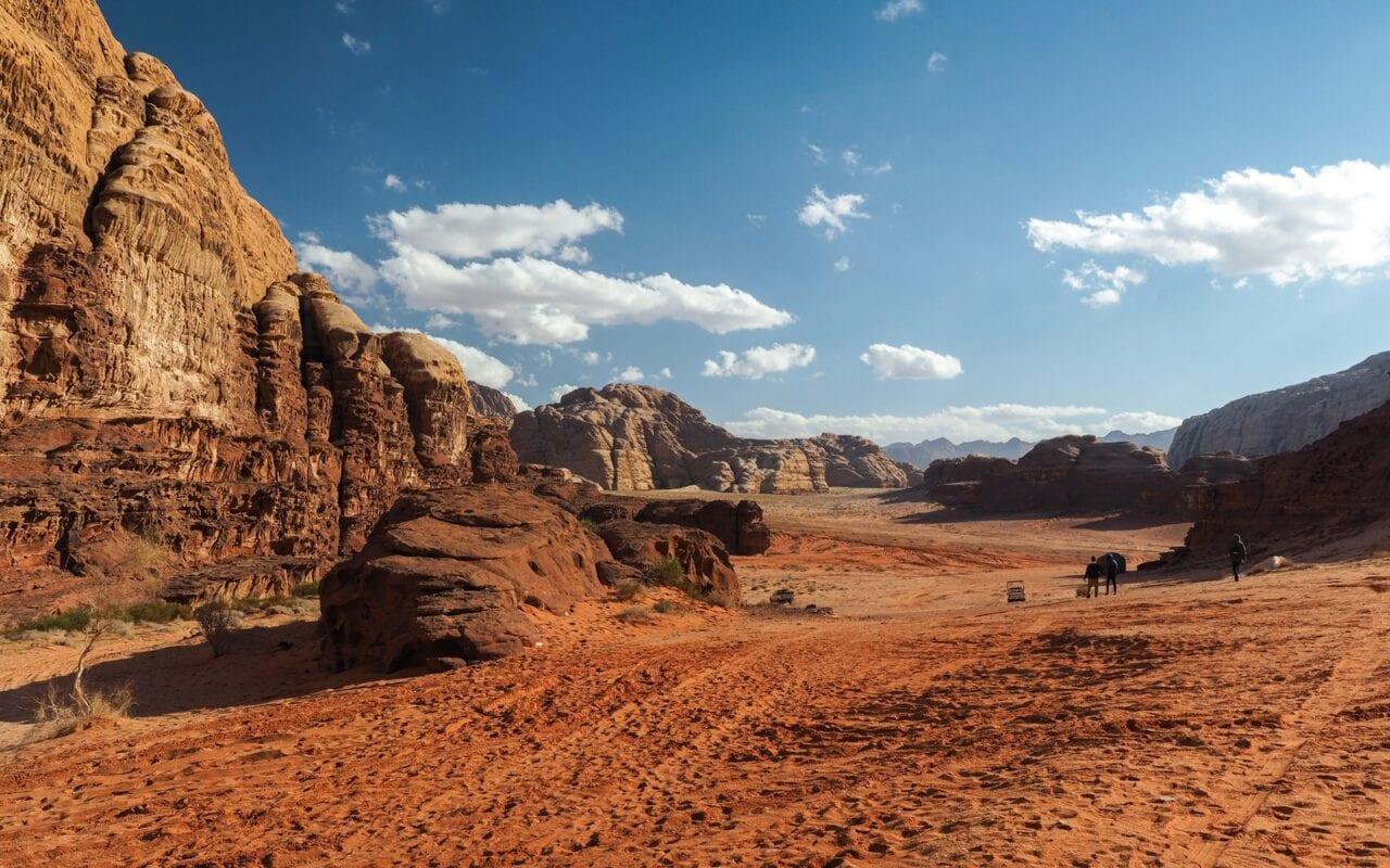 marsjańskie widoki na Wadi Rum