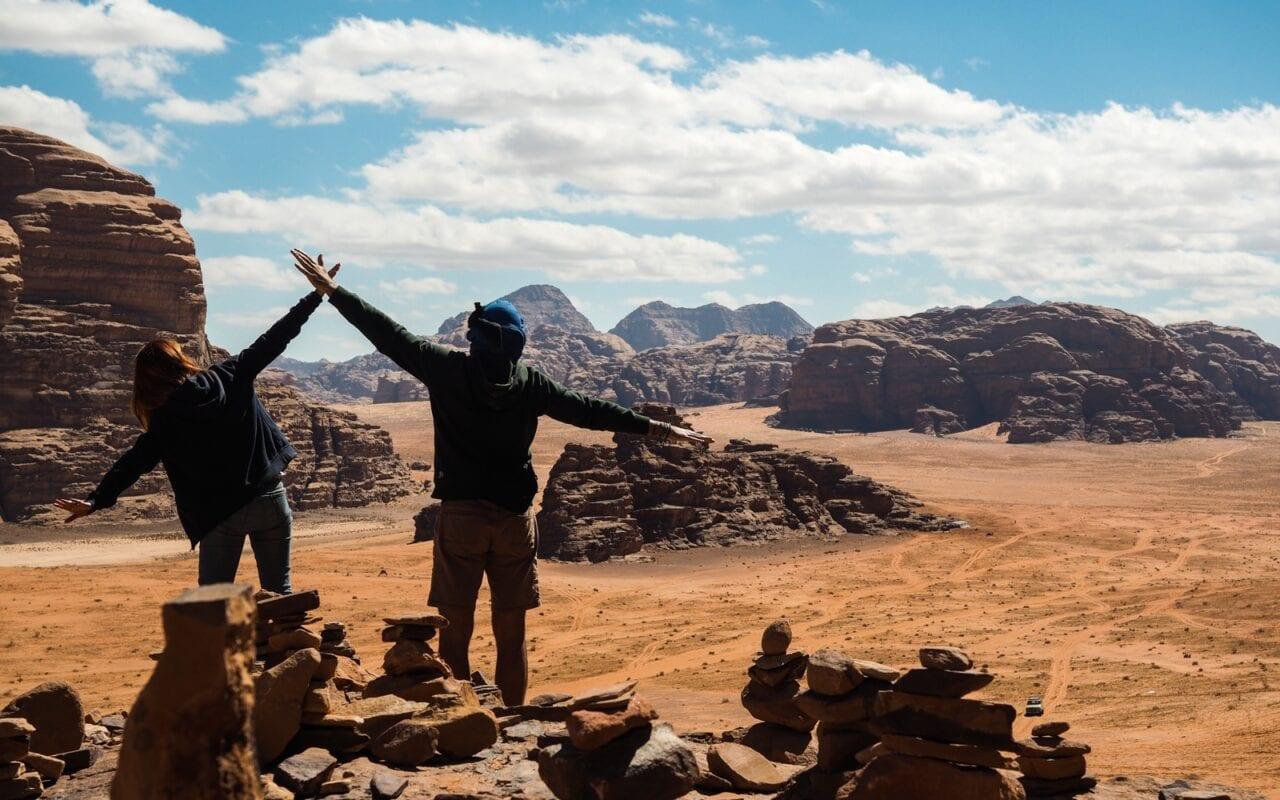 pustynia Wadi Rum i widoki