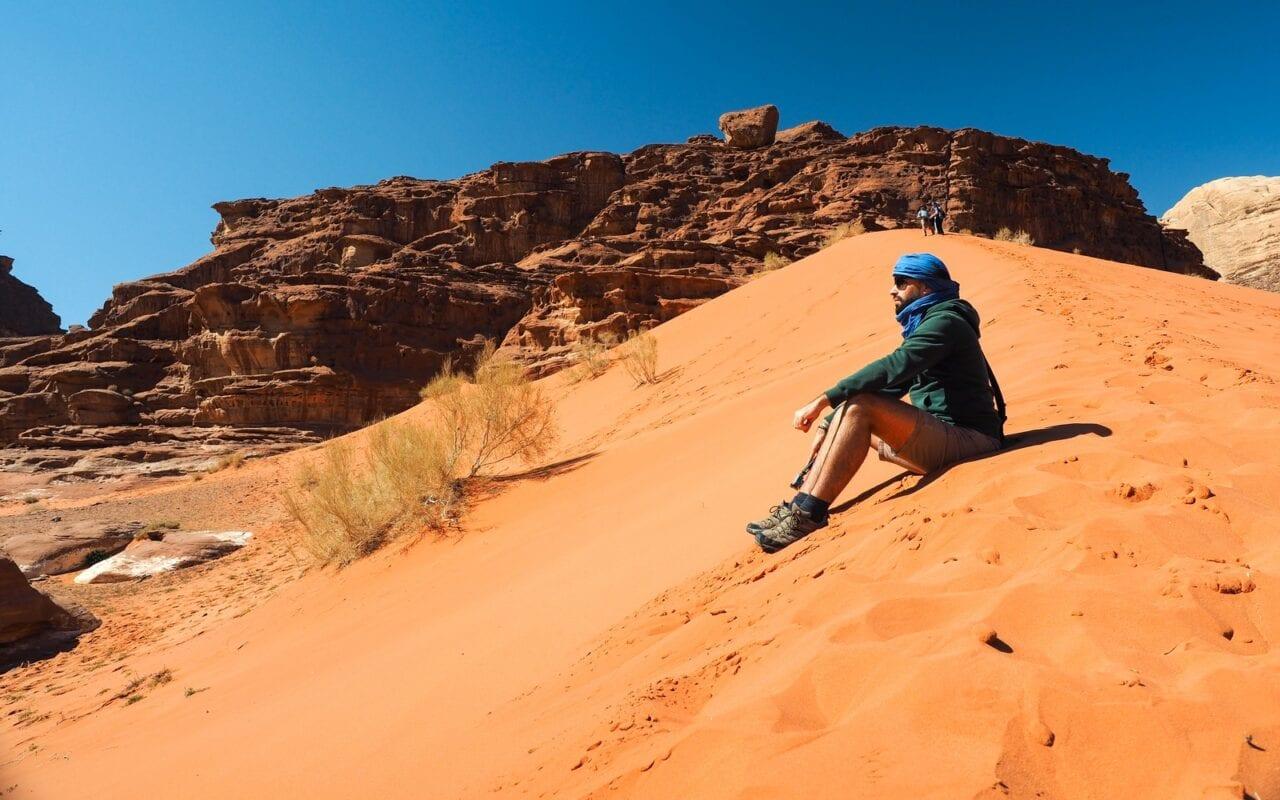 wydmy na Wadi Rum