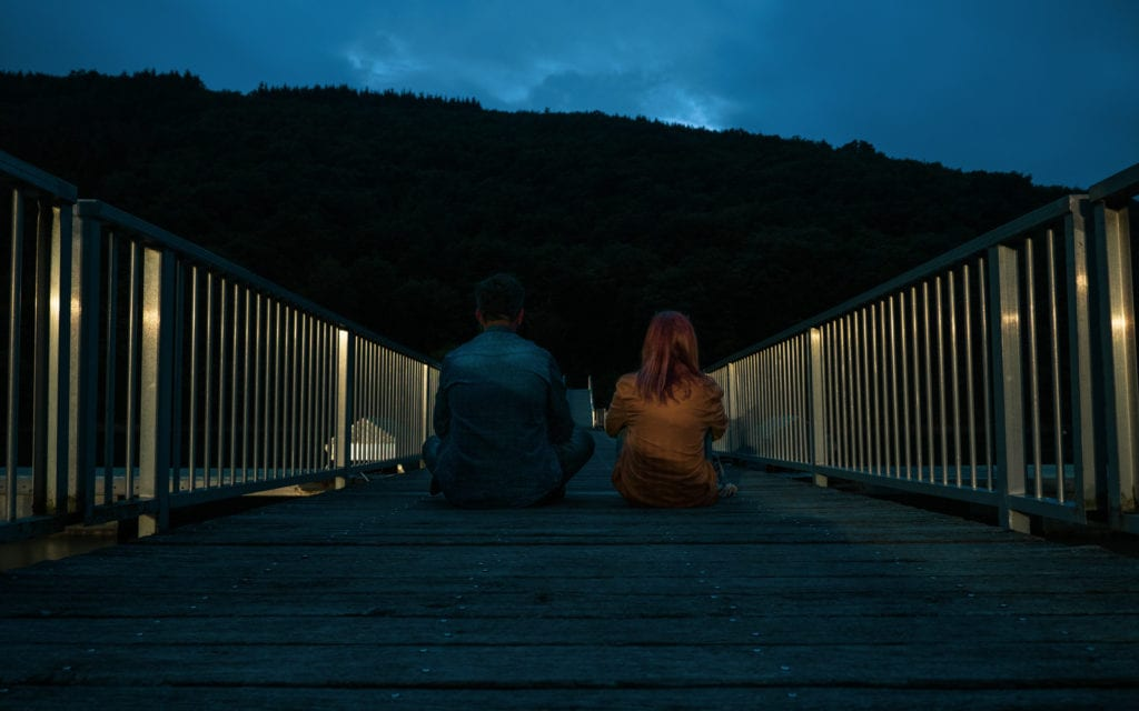 noc nad jeziorem w Luksemburgu