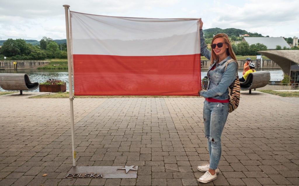 Schengen Polska flaga