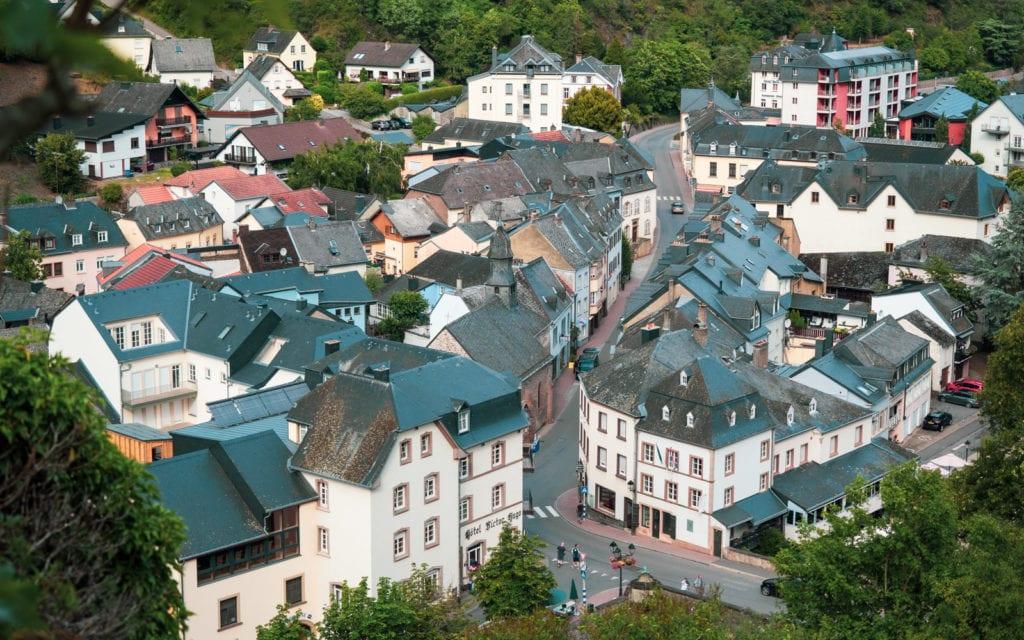 Luksemburg Vianden kamieniczki