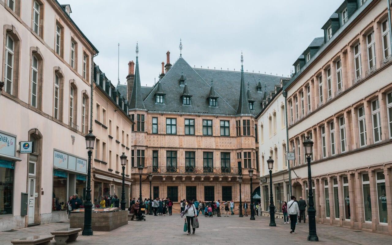 Miasto Luksemburg Palac Wielkiego Ksiecia