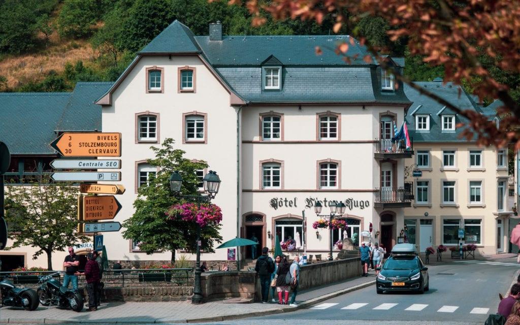 Luksemburg Vianden dom Victora Hugo