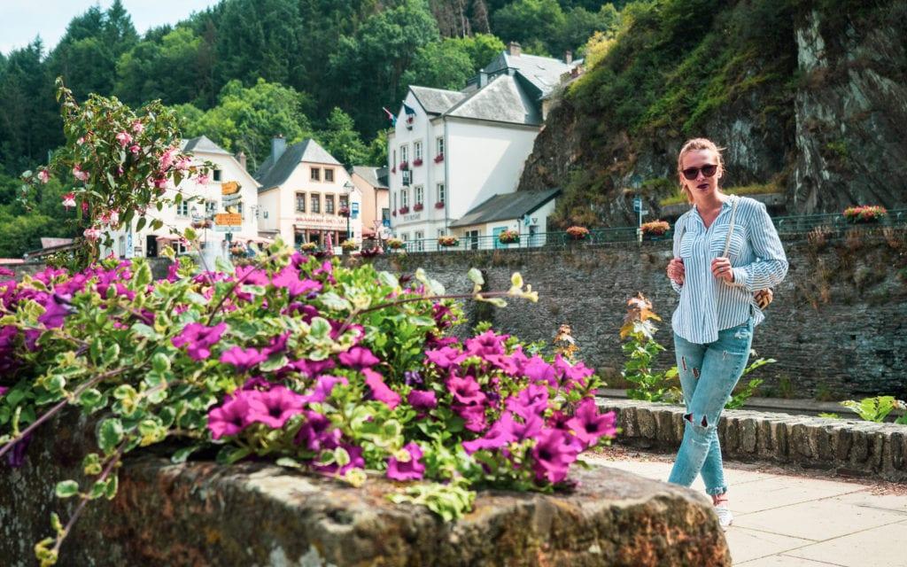 Luksemburg Vianden widok na miasto
