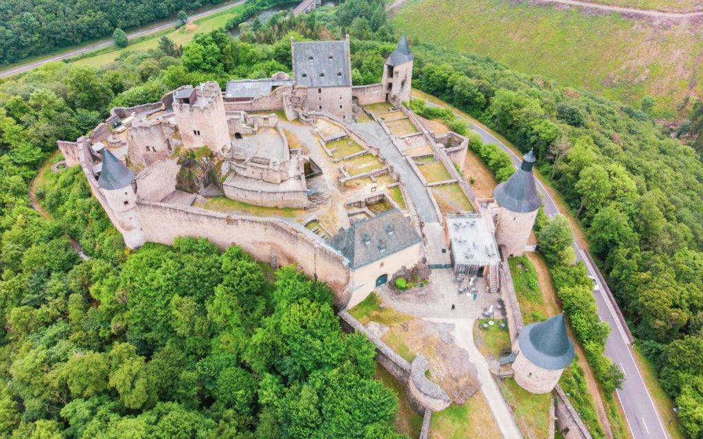Luksemburg zamek Bourscheid