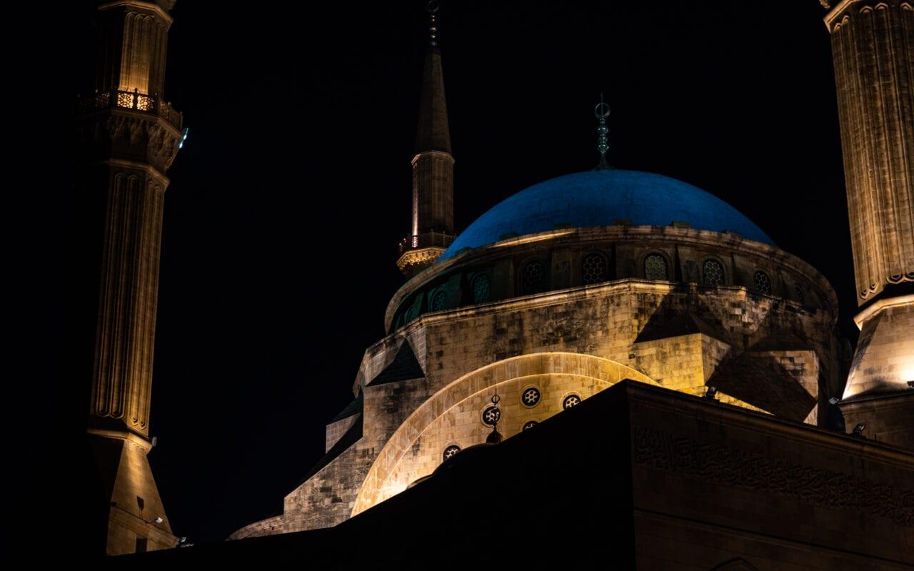 zwiedzanie-bejrutu-blekitny-meczet-w-bejrucie